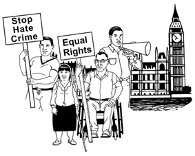 A Power Changer is someone who speaks out about our human rights, disability hate crime and equal rights