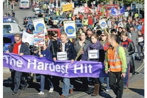 Bristol Hardest Hit demonstration 22nd October 2011