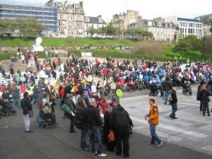 Edinburgh Hardest Hit demonstration 22nd October 2011