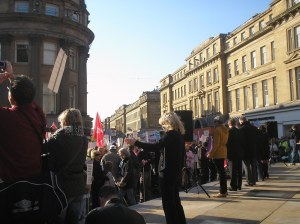 Newcastle Hardest Hit demonstration 22nd October 2011