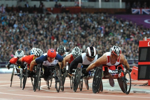 Track event at London 2012 Paralympics